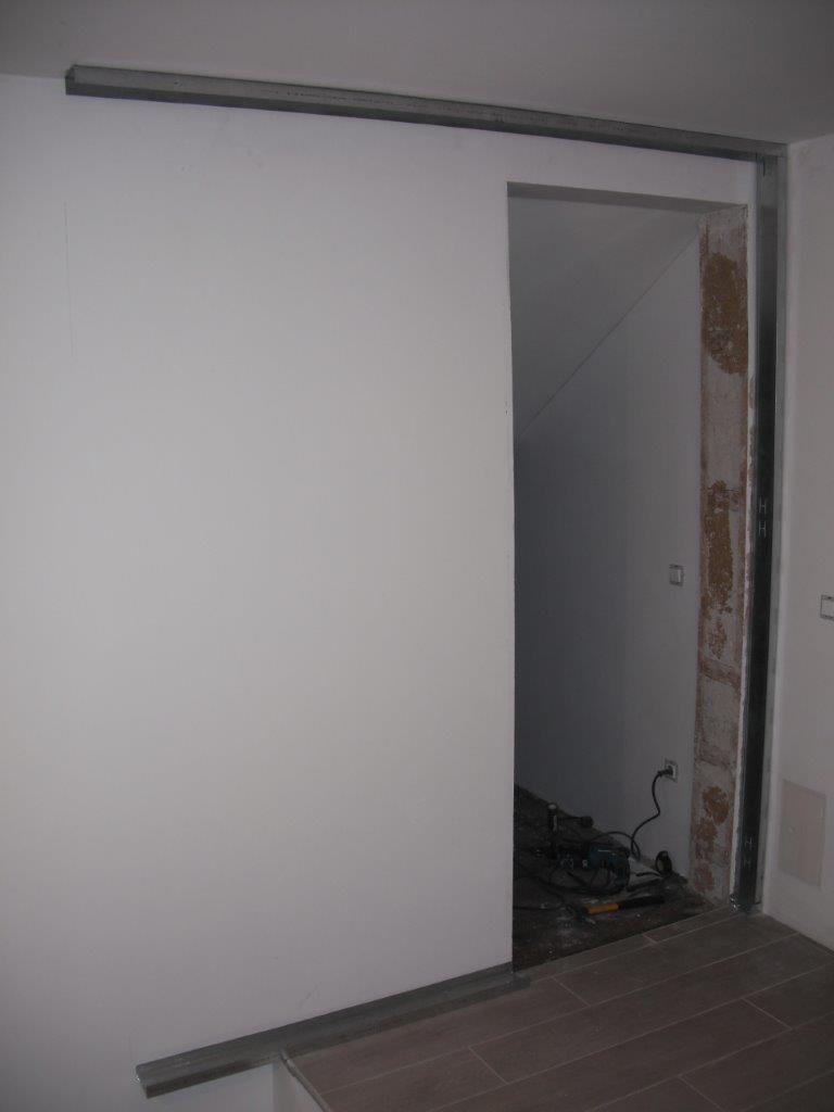 Suhomontažna Gradnja – Knauf – Postavitev Stene Z Drsnimi Vrati